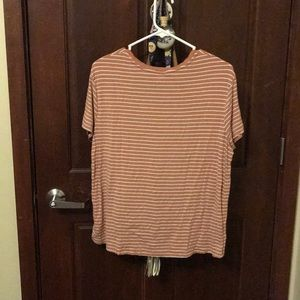 Mossimo Supply Co. Tops - Striped short sleeved orange tee